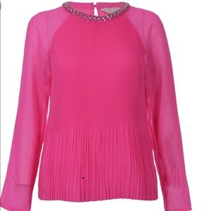 Ted Baker Hot Pink Beaded Blouse